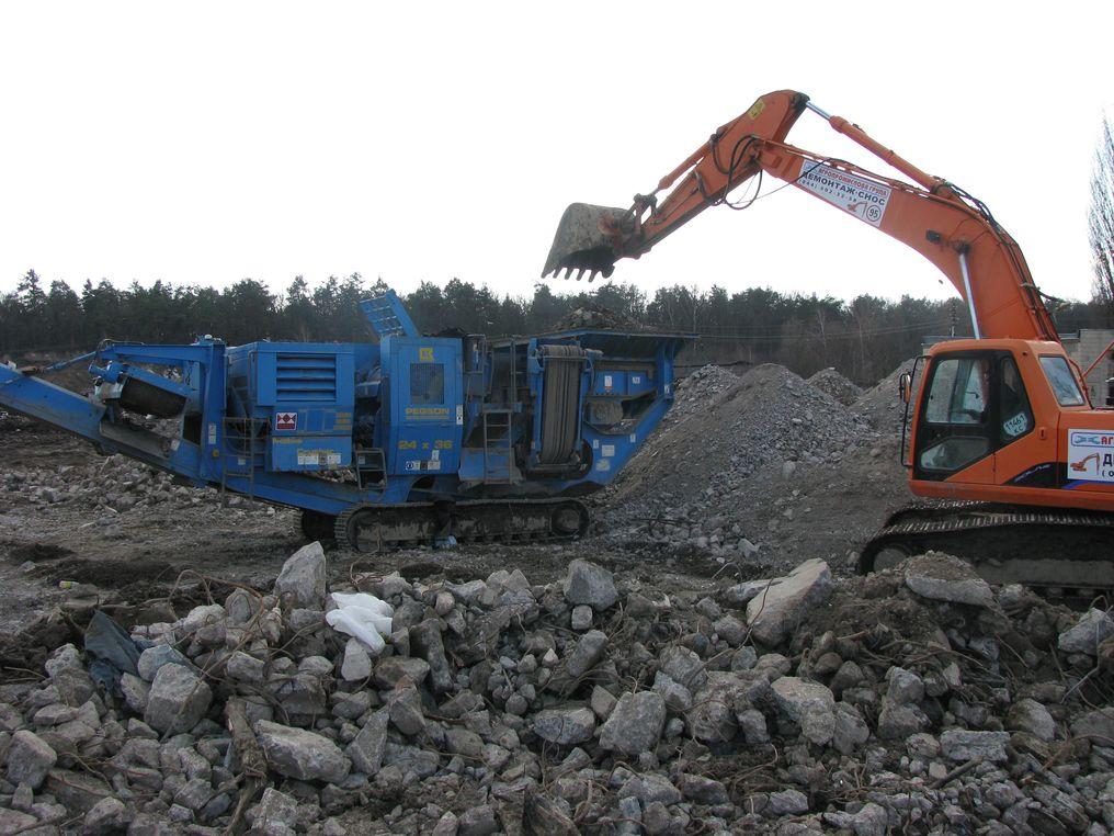 Переработка бетона