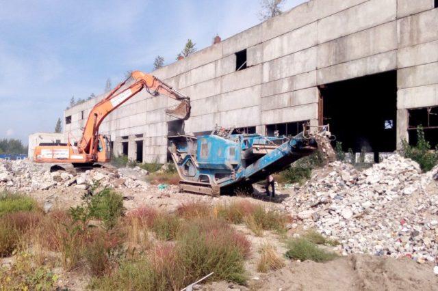 Дробление бетона — получение вторичного щебня