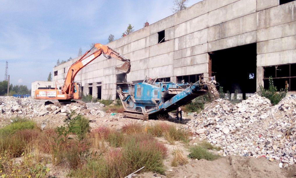 Дроблення бетону — отримання вторинного щебеню